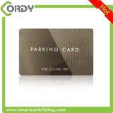 Серебряная карточка печатание EM4100 125kHz RFID с серийным номером напечатала