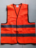 En471 Class2の高い可視性のオレンジ緑の安全ベスト
