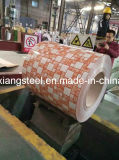 Nuevo Diseño prepintado galvanizado bobinas de acero PPGI flor en alta calidad