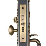 Alto Security Zinc Alloy Single Cylinder Mortise Handleset Lock in Antique Brass