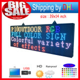 "Allargare LED Sign 39 ""X14"" Messaggio Forum Programmable Scrolling di colore completo"