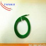 Tipo de cable de termocople aislante del PVC del color verde del color del HIELO de K