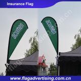 Alguns projetam a bandeira feita sob encomenda disponível da bandeira de praia, bandeira do indicador