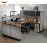 Stazione di lavoro rotonda classica dell'ufficio del blocco per grafici di alluminio modulare moderno dei cubicoli
