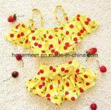 Печать Бикини вишни ребёнка, симпатичная юбка заплывания