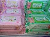 Wipes bagnati del bambino più poco costoso non tessuto di Spunlace di cura di pelle senza alcool