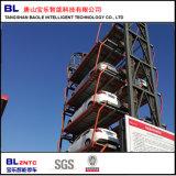 Vertical que circula o sistema mecânico do estacionamento