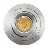 Vertiefte LED unten Leuchte des Drehbank-Aluminium-GU10 MR16 runde Neigung (LT2304B)