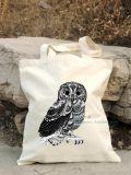 Saco de Drawstring personalizado do saco da ginástica da lona do saco da lona do algodão do saco da lona