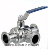 Vávula de bola embridada Sanitarythree-Manera (CA SMS 3A BS de la ISO)