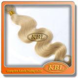Золотистое бразильское выдвижение волос Remy