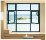 Sliding de aluminio Windows Openings con Double Glazed Glass