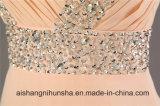 Пол-Длина отбортовала планки шифоновый a платья Bridesmaid - линию платья партии кристаллов