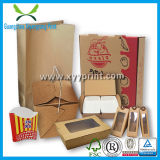 Aangepast papier Fast Food Packaging Box voor Pizza cake Chocolate Box