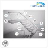GlasKlipps/304/316/Fencing/Steel Rohr/Glasbefestigung/Inox/oberste gute Edelstahl-Quadrat-Balustrade-Glasschellen (80100)