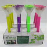 Lumière solaire colorée de fleur de jardin de DEL (RS008)