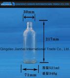 Frasco de vidro transparente Estreito-Mouthed para o suco