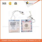 Tag feito sob encomenda do cair da impressão da etiqueta do papel de embalagem das calças de brim de pano do vestuário