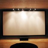 Projektor rastert Projektions-Bildschirm