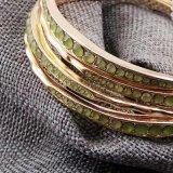 Oro/senso unico placcato d'argento del Rhinestone degli insiemi 4PCS/Set dei braccialetti di disegno