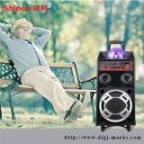 10 Zollim freienPortable PA-Lautsprecher mit Griff und Rädern