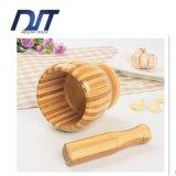 Talla de bambú del triturador del ajo de la maja y del mortero varia disponible
