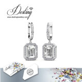 Swarovskiの豪奢なイヤリングからの運命の宝石類の水晶