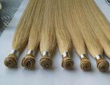 卸し売り手によって結ばれる人間の毛髪のWeftまっすぐ