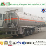 3 Semi Aanhangwagen van de Vrachtwagen van de Tanker van de Stookolie van het Aluminium van de as 450000L de Vloeibare