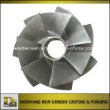 ISO9001: 2008 подгонянная турбинка насоса части отливки точности