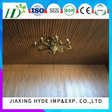 painel de parede impermeável do painel de teto do painel do PVC do sulco da largura de 25cm para Deocration interior