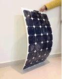 배를 위한 100W Sunpower 단청 세포 유연한 태양 전지판 Customerized & 높은 Effiency, Yacths 의 차, 버스, Motorhome