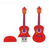 Movimentação personalizada movimentação da pena da música dos desenhos animados do flash do USB da guitarra do PVC
