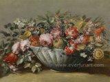 Flor hecha a mano de la pintura al óleo de la decoración de la pared