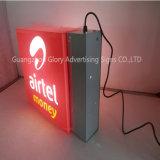 Airtel 광고를 위한 정사각형 상자 발 LED 가벼운 상자