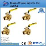 Alta calidad de cobre amarillo de las muestras libres de la venta al por mayor de la vávula de bola de la cuerda de rosca del precio de fábrica