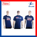 Healong 65の綿35ポリエステルシルクスクリーンの印刷の人のTシャツ