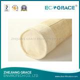 Saco de filtro de aramida de feltro de agulha de fita não tecida