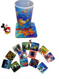 China Factory Produce 3D pp. Lenticular Coaster