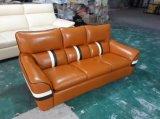 Sofa en cuir moderne, sofa faisant le coin, L meubles de forme (961)
