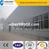経済的な熱販売の容易な造りの鉄骨構造の倉庫か研修会または格納庫または工場