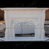 Camino bianco Mfp-550 di Carrara del camino di pietra di marmo del granito