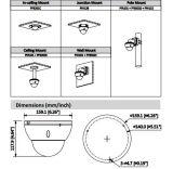 IP van de Veiligheid van de Koepel van Dahua 2MP WDR IRL Camera (ipc-hdbw8231e-z)