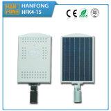 15W impermeabilizan IP65 al aire libre todos en una luz solar de la calle LED del sensor de movimiento