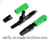 le mode 0.5dB Sc/APC unitaire de 0.9/2.0/3.0mm de fibre optique jeûnent connecteur