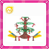 미니 플라스틱 지적 원숭이 나무 장난감 게임