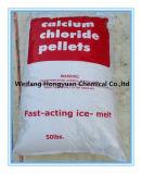 Cloreto de cálcio Pelelt de 94% para o derretimento do gelo