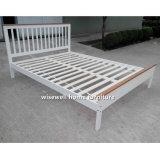Weißes Farben-Kiefer-doppeltes Bett-hölzernes volles Bett