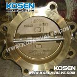 Задерживающий клапан плиты бронзовой вафли бросания двойной (H76)