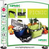 Faltender Picknick-Gewebe-EinkaufskorbTote